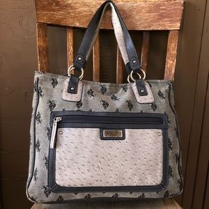 Large Navy Polo Tote